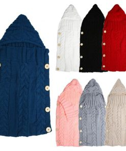 Warm Knitted Swaddle Sleeping Bag For Babies Dealaxy