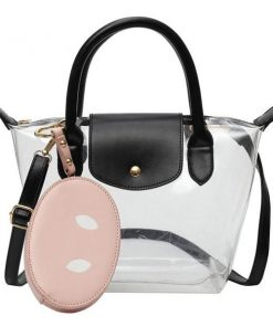 New Transparent Clear Bag (Waterproof) pink