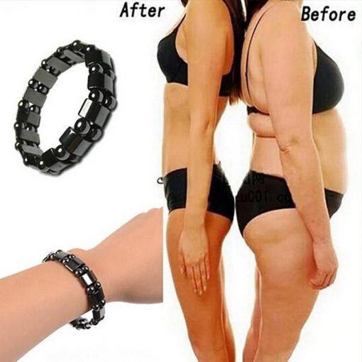 Weight Loss Round Black Stone Magnetic Therapy Bracelet 1