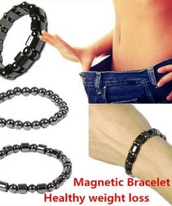 Weight Loss Round Black Stone Magnetic Therapy Bracelet 3