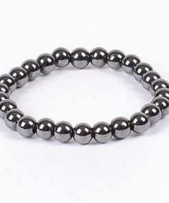 Weight Loss Round Black Stone Magnetic Therapy Bracelet m2