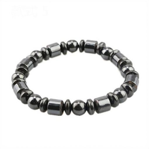 Weight Loss Round Black Stone Magnetic Therapy Bracelet m3