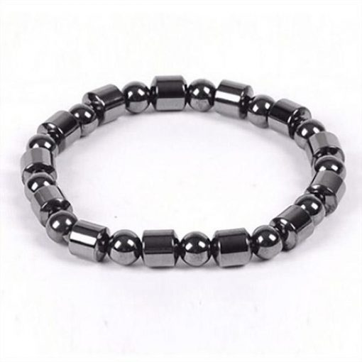 Weight Loss Round Black Stone Magnetic Therapy Bracelet m4