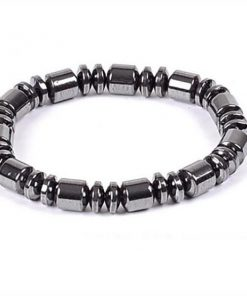 Weight Loss Round Black Stone Magnetic Therapy Bracelet m5
